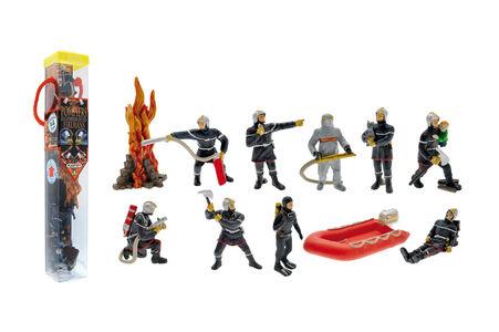 Giocattolo Tubo Pompieri 11 Personaggi Plastoy