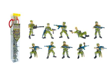 Giocattolo Tubo Commando Operazione Giungla 10 Personaggi Plastoy 0