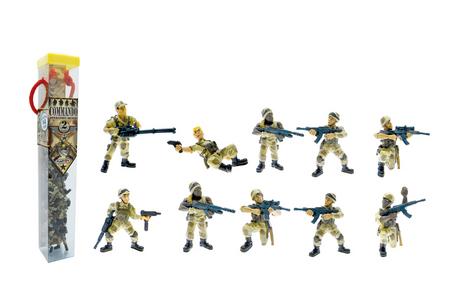 Giocattolo Tubo Commando Operazione Deserto 10 Personaggi Plastoy
