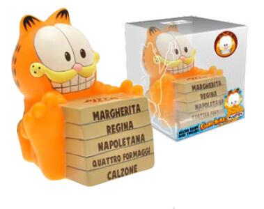 Mini Salvadanaio Garfield. Garfield con Pizza