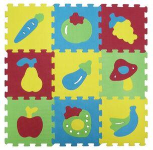 Giocattolo Tappeto Puzzle Frutta 9 Pezzi Ludi