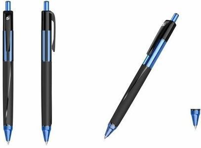 Penna a sfera a scatto 5 Star tratto 0,5 mm blu. Confezione 12 pezzi