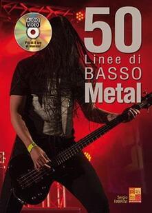 50 Linee di Basso Metal + disco audio/video -  Sergio Fabrini - copertina