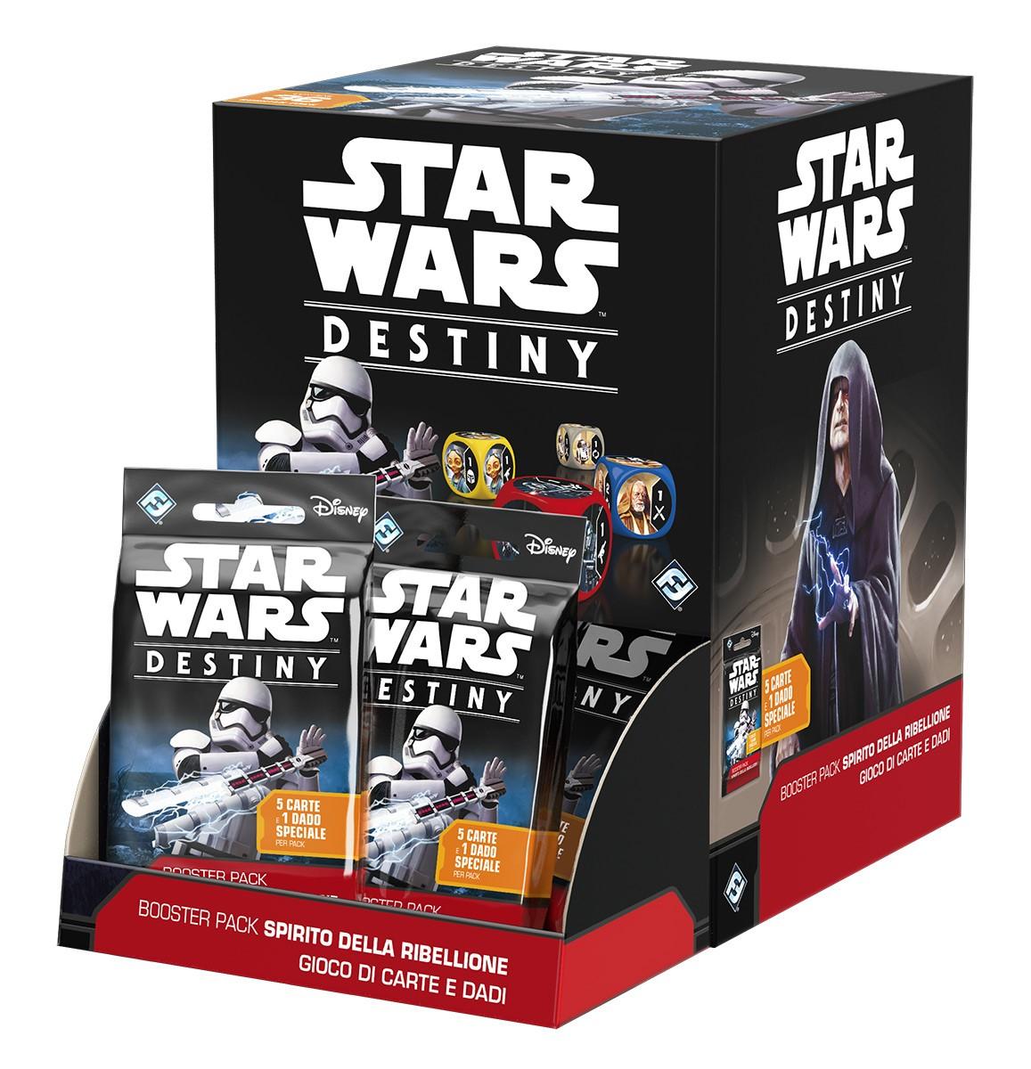 Star Wars. Destiny. Box 36 Booster Pack Spirito della Ribellione. Gioco da tavolo