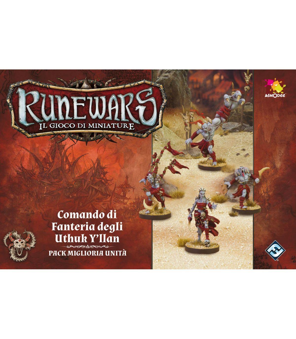 Image of Runewars. Il Gioco di Miniature. Comando di Fanteria Degli Uthuk Yllan. Gioco da tavolo