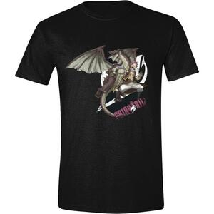 T-Shirt Unisex Tg. 2XL. Fairy Tail Natsu Dragneel Logo Black