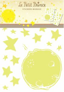 Idee regalo Stickers murali, Medium Il Piccolo Principe Avenue Mandarine 0