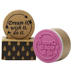 Timbro in legno Pop' Stamp. Dream It, Wish It, Do It