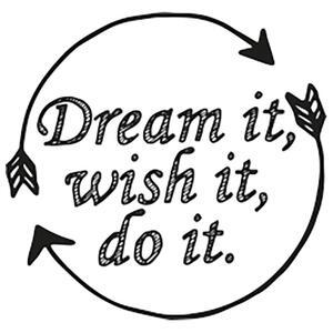 Timbro in legno Pop' Stamp. Dream It, Wish It, Do It - 4