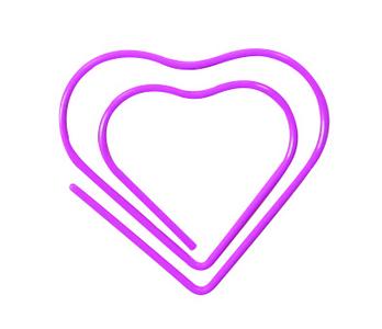 Cartoleria Mini Clips, Cuori. rosso, rosa, viola Maildor 1