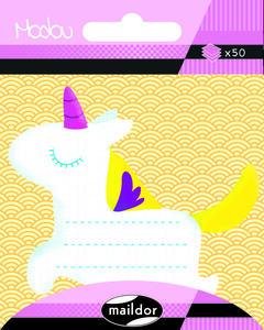 Foglietti memo adesivi Modou. Unicorno