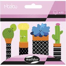 Segnapagina adesivi Modou. Cactus