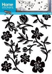 Sticker decoro murale Ghirlanda Nera