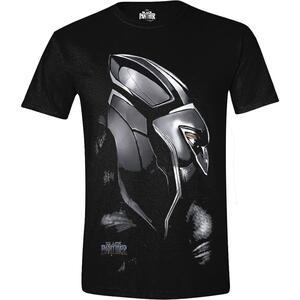 T-Shirt Unisex Tg. XL Black Panther. Face Black