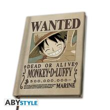 Quaderno A5 One Piece Wanted Luffy