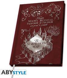 Taccuino a righe Harry Potter Mappa del Malandrino