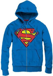 Felpa uomo Superman. Grunge Vintage Logo