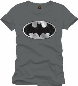 T-Shirt uomo Batman. Cracked Silver Logo