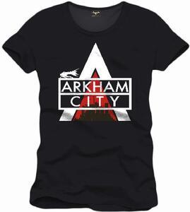 T-Shirt uomo Arkham City. Logo Black