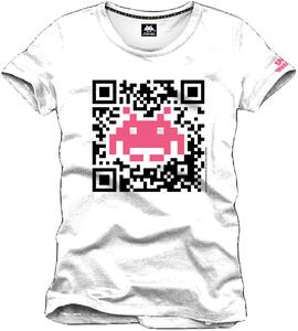 T-Shirt uomo Space Invaders. QR Code