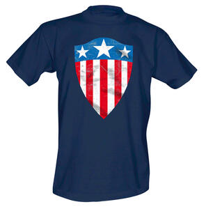 T-Shirt uomo Captain America. Cracked Long Shield