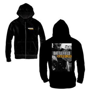 Felpa con cappuccio e zip uomo Battlefield Hardline. Hardline Poster Zipped Hoodie Black