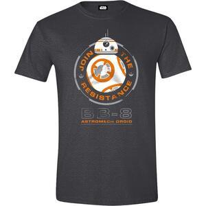T-Shirt Unisex Star Wars. The Force Awakens. Bb.8 Astromech Droid Anthracite Melange