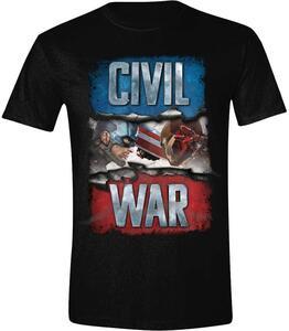 T-Shirt unisex Capitan America Civil War. Civil War Cover