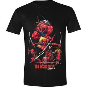T-Shirt Unisex Deadpool. Family Black