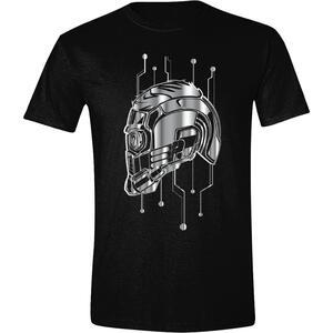 T-Shirt Unisex Guardians Of The Galaxy Vol 2. Helmet Star-Lord Black