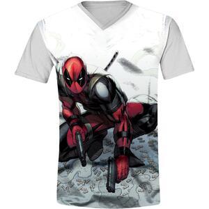 T-Shirt Unisex Deadpool. Bullets Grey