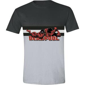 T-Shirt Unisex Deadpool. Pose Title Anthracite