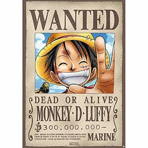 Lastra in Metallo One Piece. Luffy Wanted X5