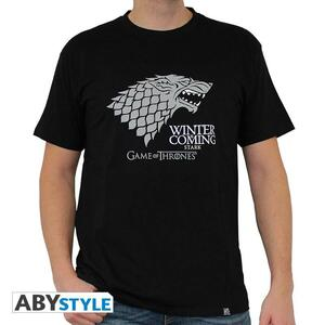 """Game Of Thrones. Tshirt """"Winter Is Coming"""" Man Ss Black. Basic - 2"""