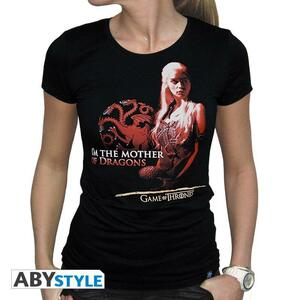 """Game Of Thrones. Tshirt """"Mother Of Dragons"""" Woman Ss Black. Basic - 2"""