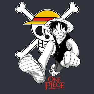 T-Shirt Basic One Piece. Luffy & Emblem - 3
