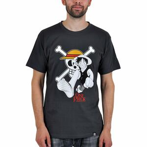 T-Shirt Basic One Piece. Luffy & Emblem - 4