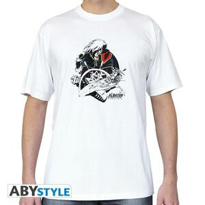 "Albator. Tshirt ""Albator Atlantis"" Man S White. Basic"