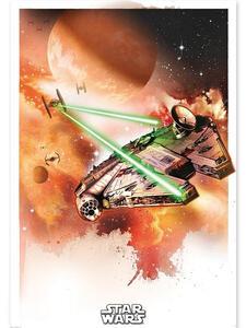 Poster Star Wars. Millennium Falcon