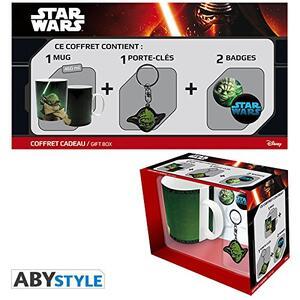 Star Wars. Pck Mug Yoda + Porte-Clés + Badges