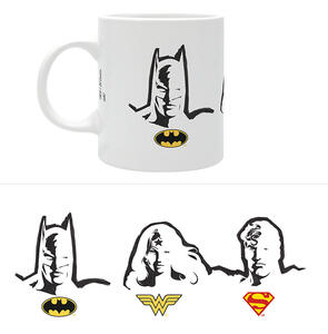 Tazza DC Comics. Batman, Superman e Wonder Woman