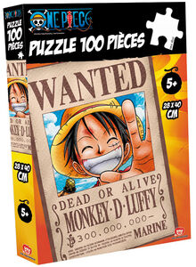 Giocattolo Puzzle One Piece. Wanted Rubber 100 pezzi Obyz 0