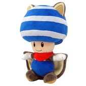 Giocattolo Peluche Toad Blu Scoiattolo Volante Nintendo