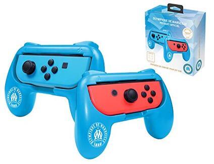Set di 2 maniglie ergonomiche per joystick Joy Con Nintendo Switch – destra/sinistra OM Olympique de Marseille Om Olympique de Marseille
