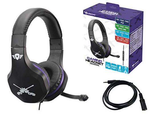 Subsonic Cuffie per Videogiocatori con Microfono e Prolunga PlayStation 4