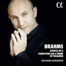 Sonata op.5 - Variazioni su un tema di Paganini - CD Audio di Johannes Brahms,Nelson Goerner