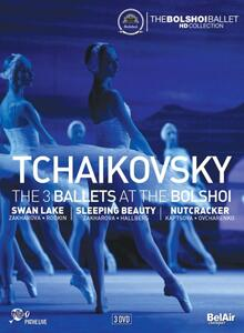 Pyotr Ilyich Tchaikovsky. The Three Ballets At The Bolshoi (3 DVD) - DVD