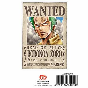 Adesivi One Piece. 2 Fogli. Wanted Luffy e Zoro X5 - 2