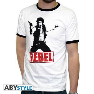 """Star Wars. Tshirt """"Han Solo Rebel"""" Man Ss White. Fashion* - 2"""