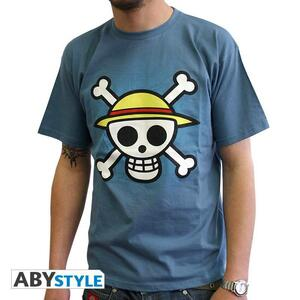 "One Piece. Tshirt ""Skull With Map"" Man Ss Stone Blue. Basic - 2"